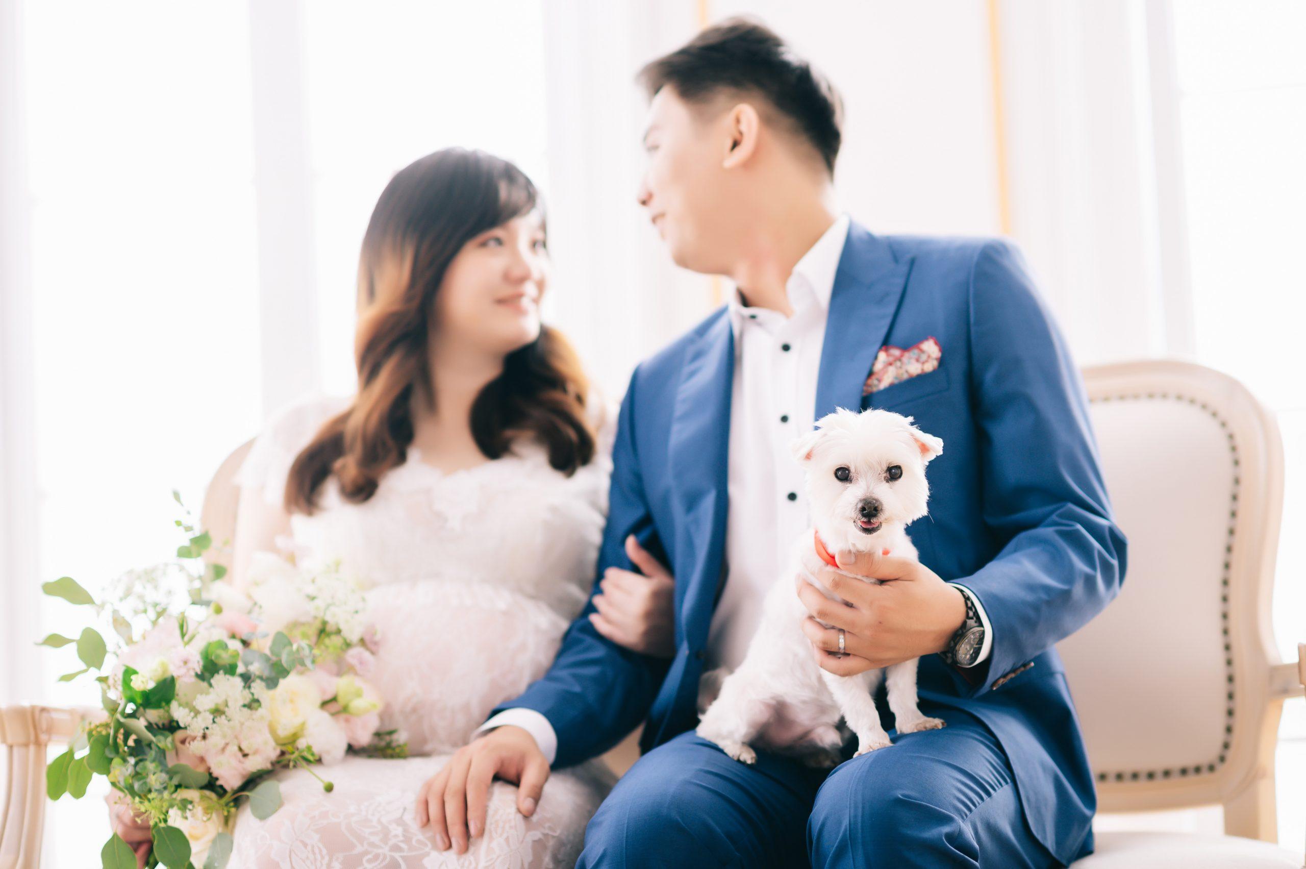 台中孕婦照推薦 怡君+胖胖 孕婦照 寵物寫真