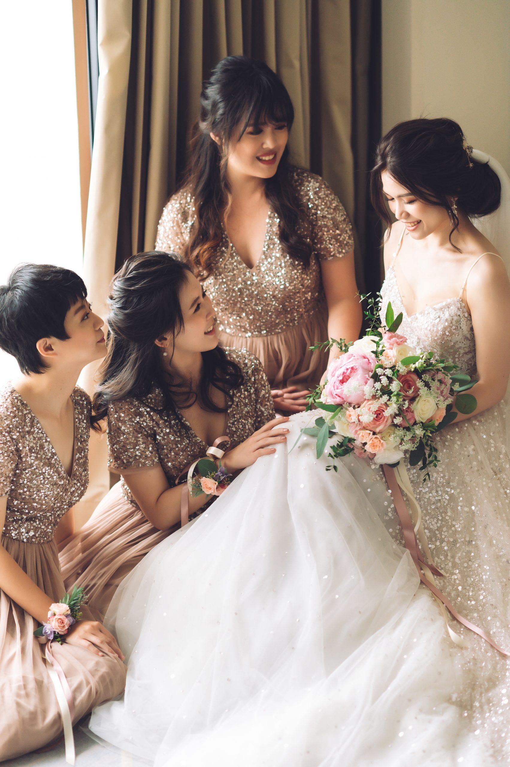 我只想說,當下新娘真的在發光,神新娘降臨